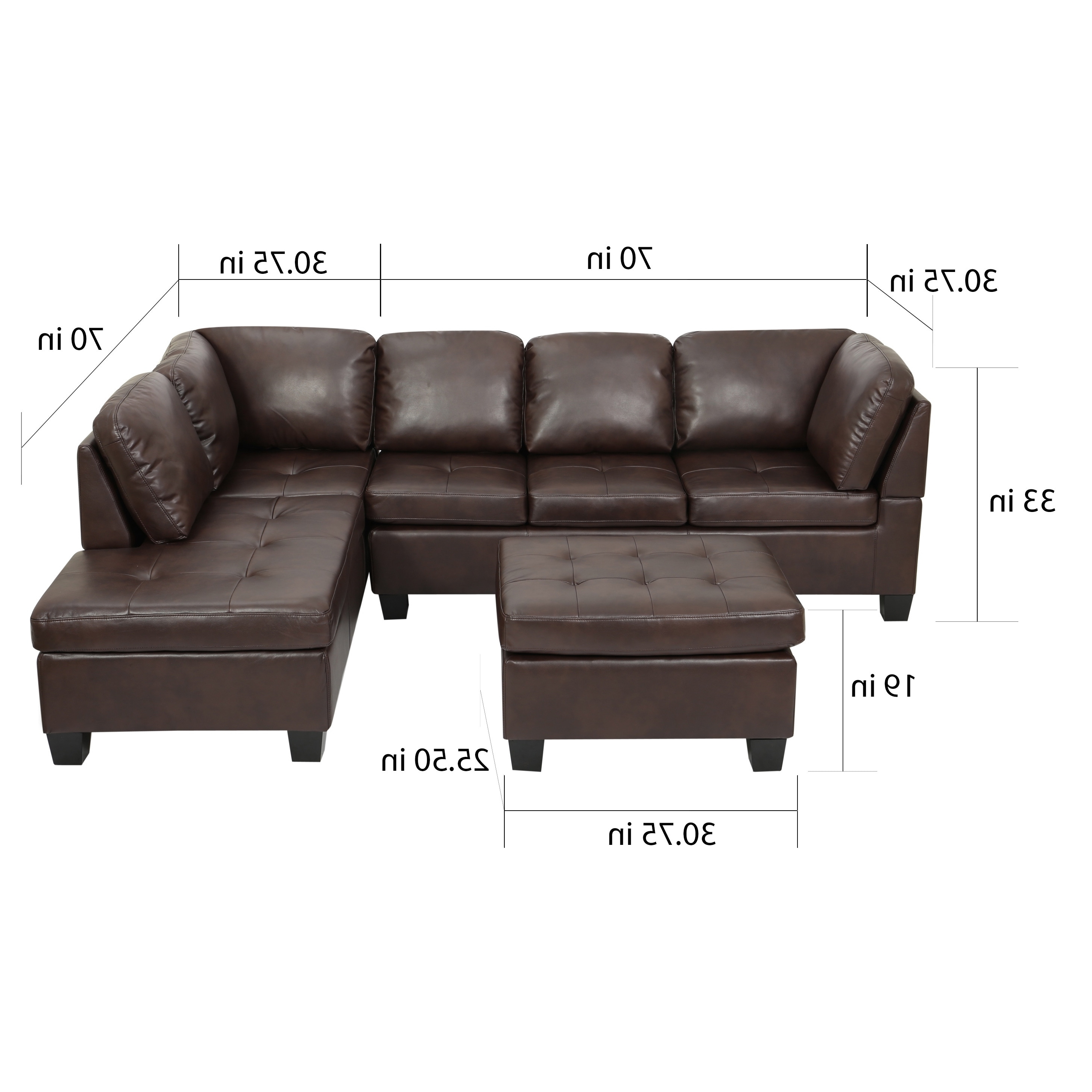 Canterbury Leather Sofas Intended For Most Recent Canterbury 3 Piece Pu Leather Sectional Sofa Setchristopher (View 9 of 20)