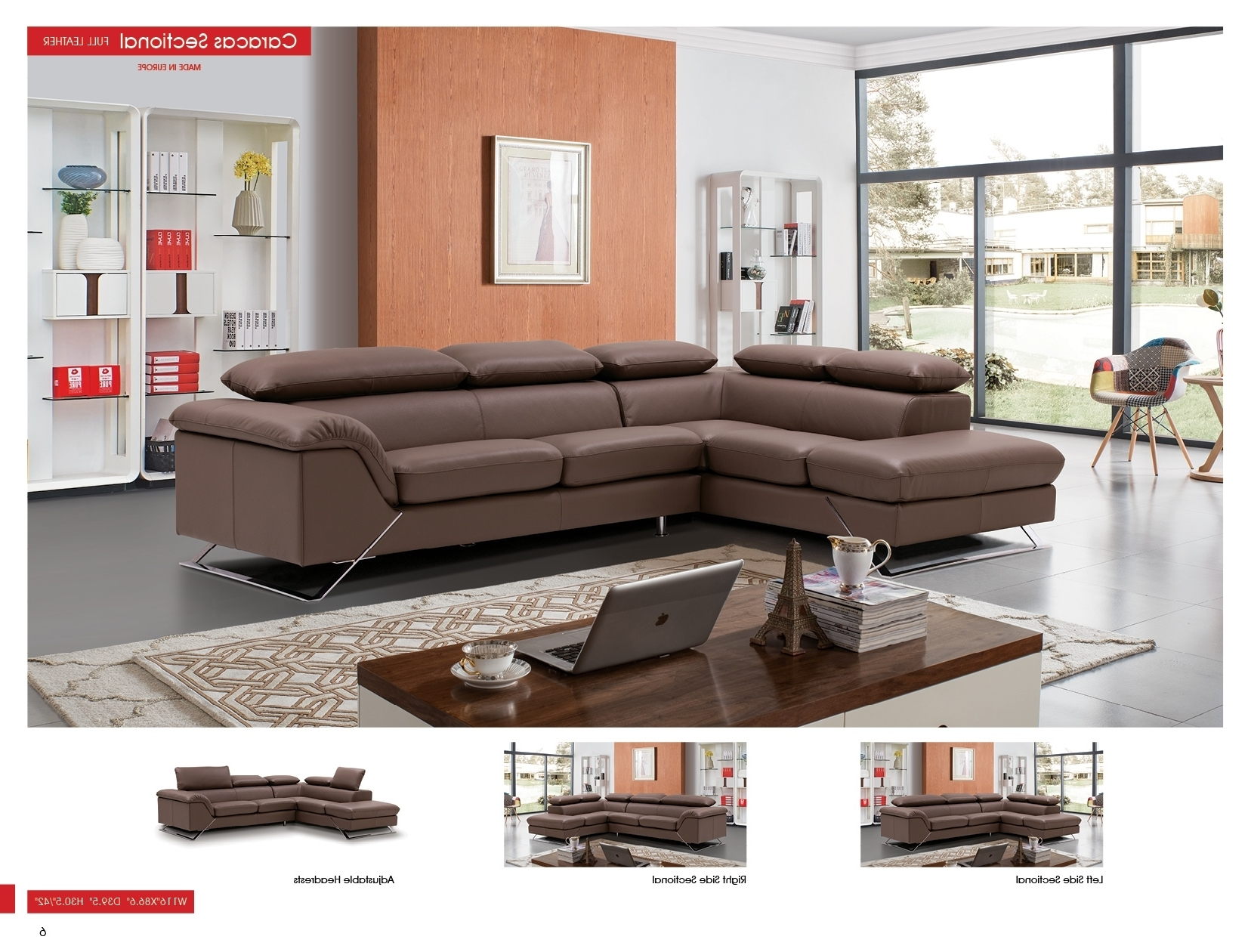 Caracas Sectional Full Leather, Sectionals, Living Room Furniture Within Most Current Sectional Sofas From Europe (View 19 of 20)