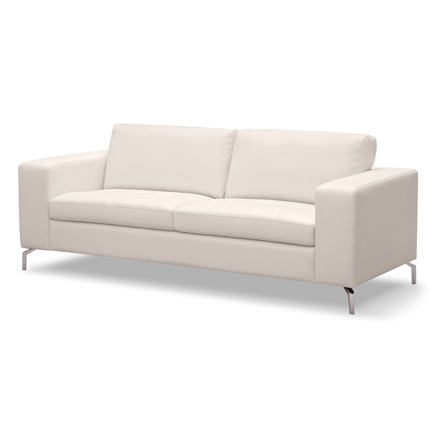Casino Leather Sofa – American Signature Furniture (Main Living Throughout Most Recently Released White Sofa Chairs (View 4 of 20)