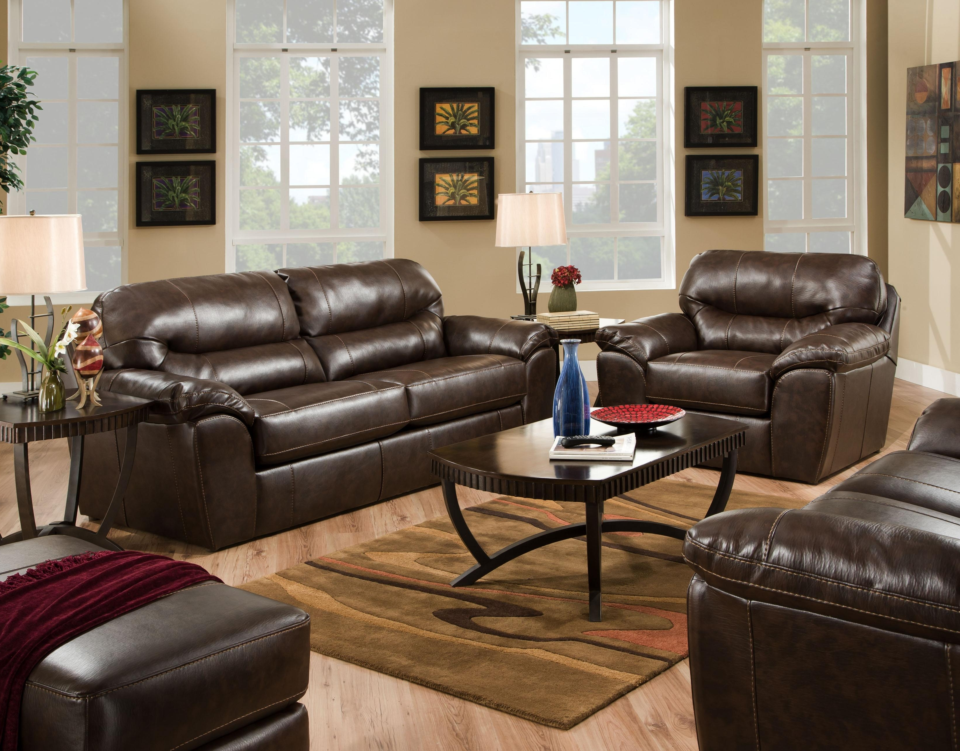 Casual And Comfortable Faux Leather Sofajackson Furniture Regarding Most Current Comfortable Sofas And Chairs (View 2 of 20)