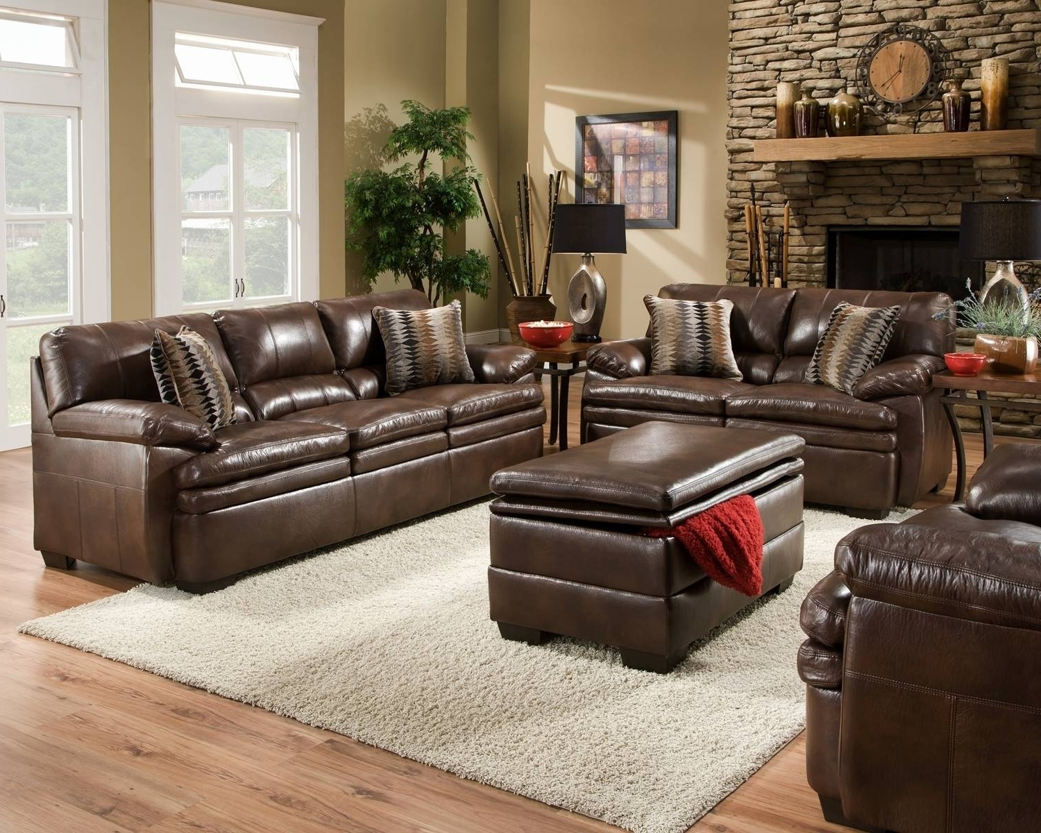 Casual Sofas And Chairs Intended For Best And Newest Living Room Sofas Sets Fancy Brown Bonded Leather Sofa Set Casual (View 4 of 20)