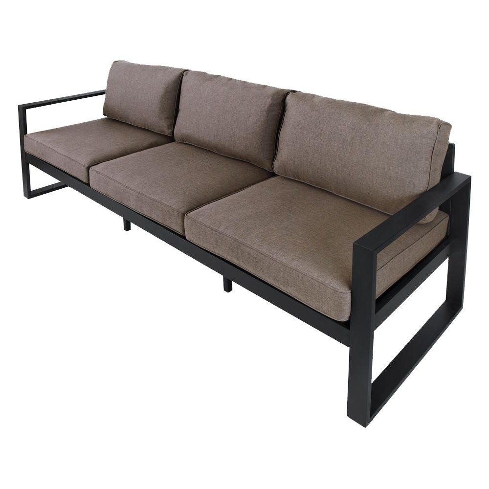 Casual Sofas And Chairs Throughout Most Recently Released Real Flame Baltic 82 In. Black Aluminum All Weather Casual Outdoor (Gallery 16 of 20)
