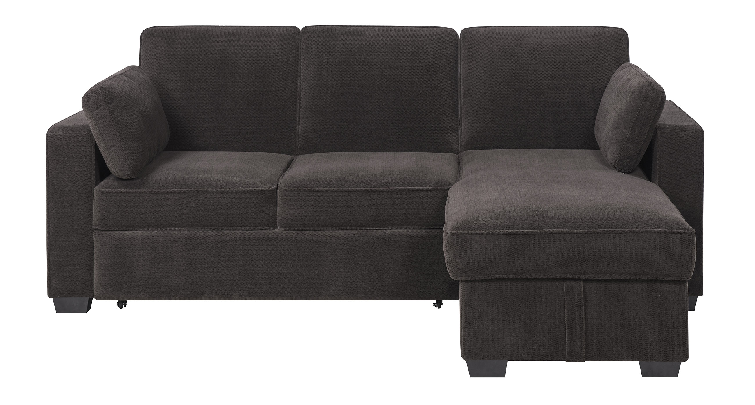 Chaela Sectional Convertible Sofa Dark Greyserta / Lifestyle With Best And Newest Convertible Sofas (View 11 of 20)