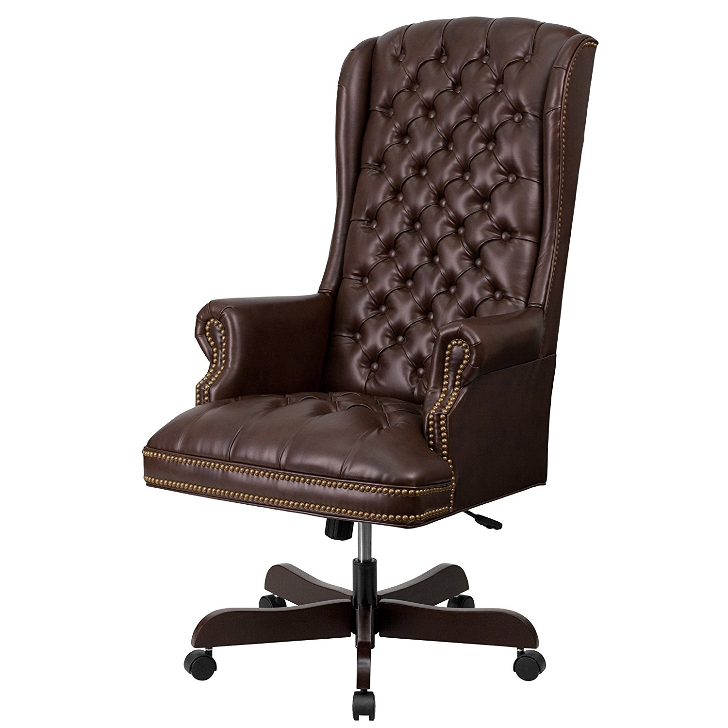 Chair : High Back Executive Leather Office Chair Verona Brown With Most Popular Verona Executive Leather Office Chairs (View 6 of 20)