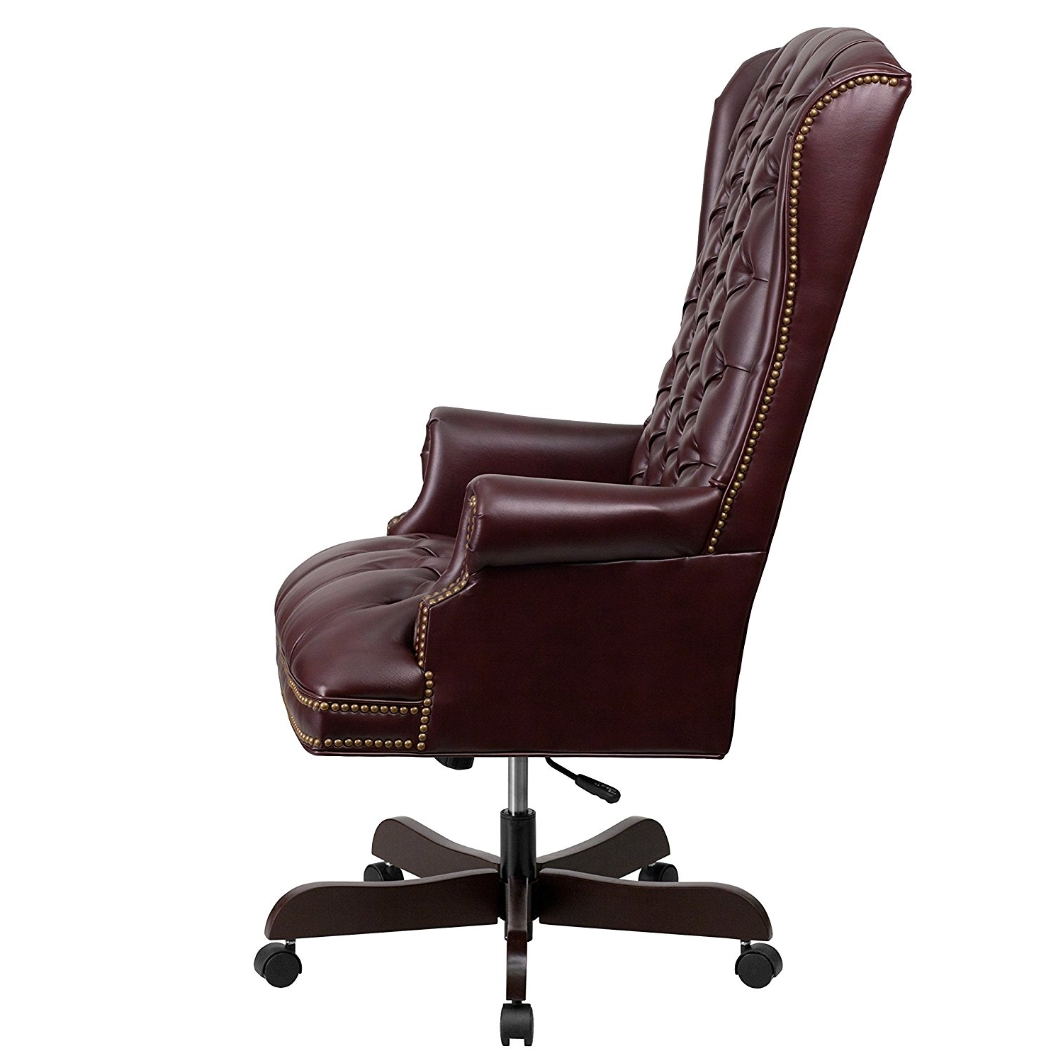Chair : Leather And Wood Executive Office Chair Executive Leather In Most Popular Black Leather Faced Executive Office Chairs (View 8 of 20)