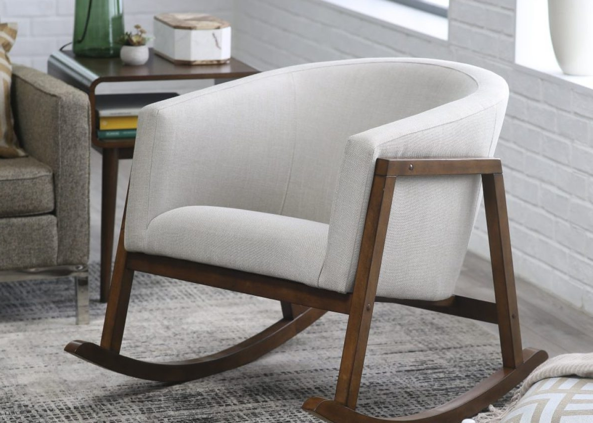 Chair : The Example Of Moderns Kids Upholstered Rocking Chair With Favorite Rocking Sofa Chairs (View 4 of 20)