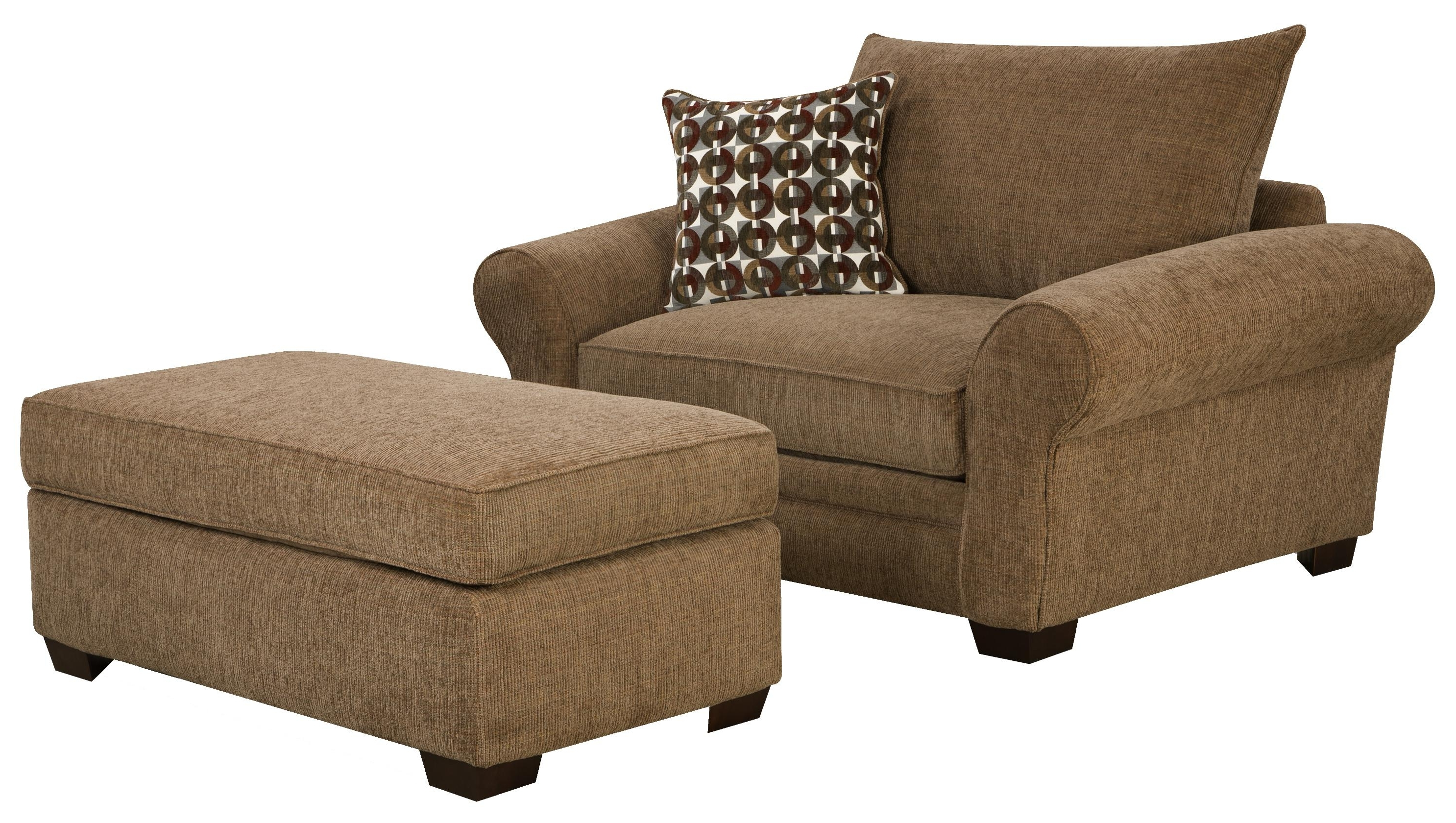 Chairs With Ottoman Regarding Most Popular Corinthian 5460 Extra Large Chair And A Half & Ottoman Set For (View 3 of 20)