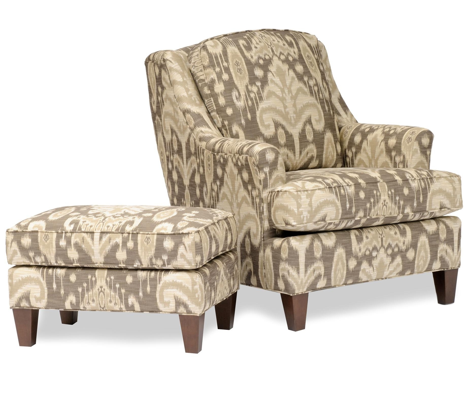 Chairs With Ottoman With Best And Newest Chairs : Cool Accent Chairs With Grey Patterned Ottoman Occasional (View 13 of 20)