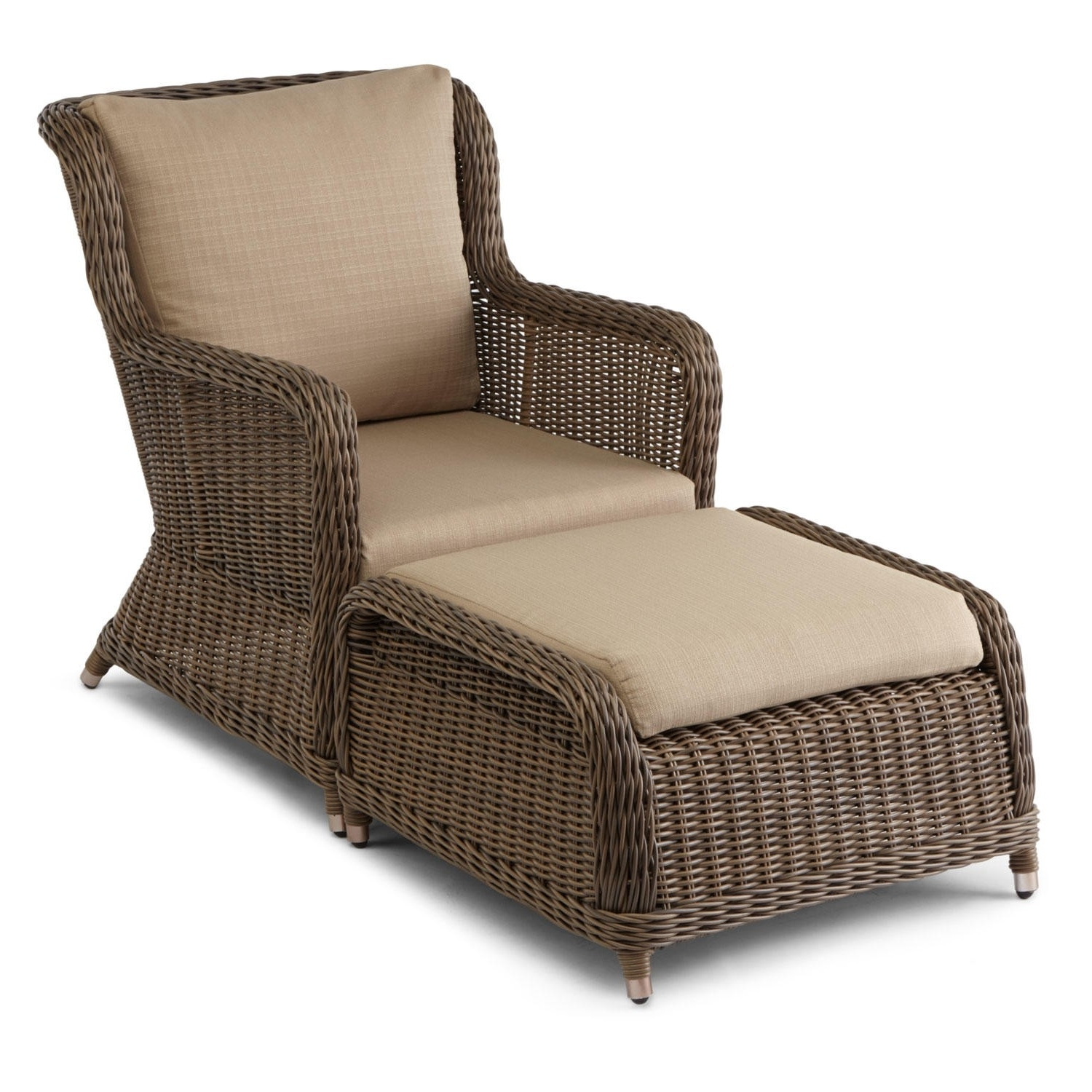 Chairs With Ottoman With Regard To Most Up To Date Wicker Chair With Ottoman – Modern Chairs Quality Interior  (View 6 of 20)