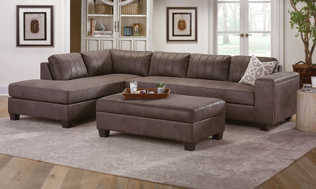 Chaise Sectional With Storage Ottoman (View 5 of 20)