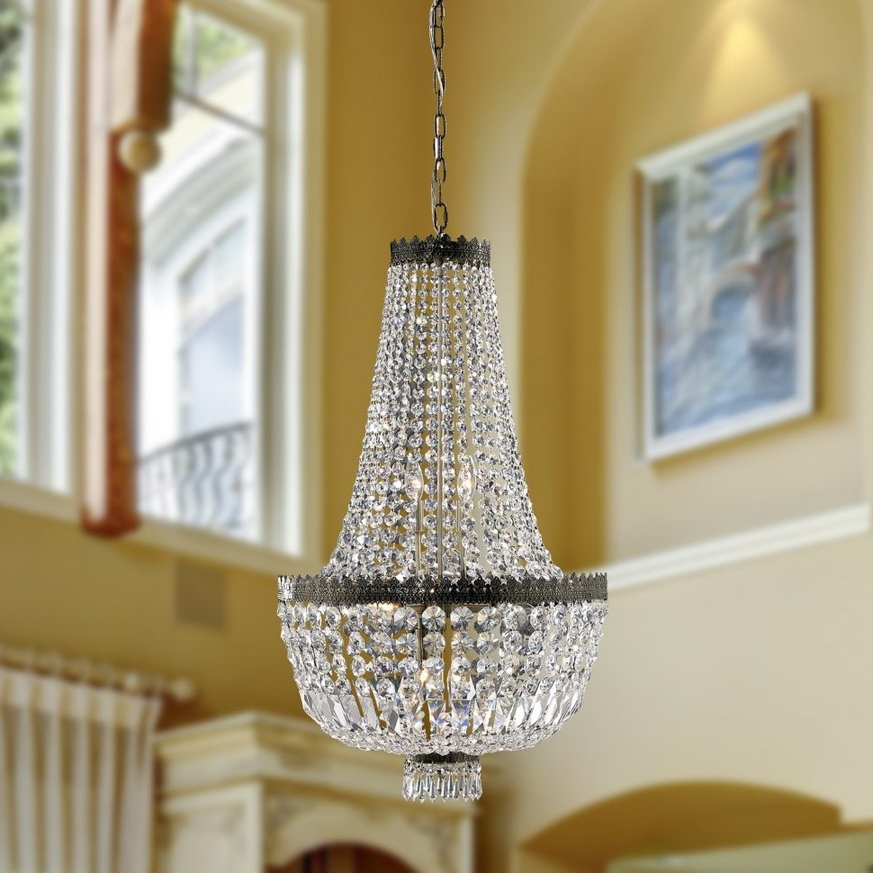Chandeliers : Crystal Chandelierut Lights Faux Triangle With No Tiny Regarding 2018 Tiny Chandeliers (View 2 of 20)