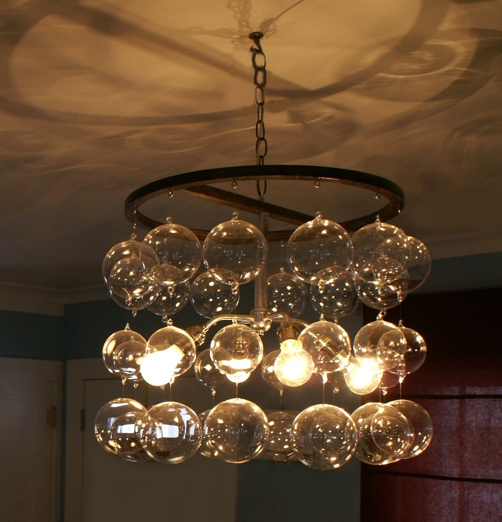 Chandeliers Design : Fabulous Unique Glass Ball Chandelier About Intended For Most Popular Turquoise Orb Chandeliers (View 5 of 20)