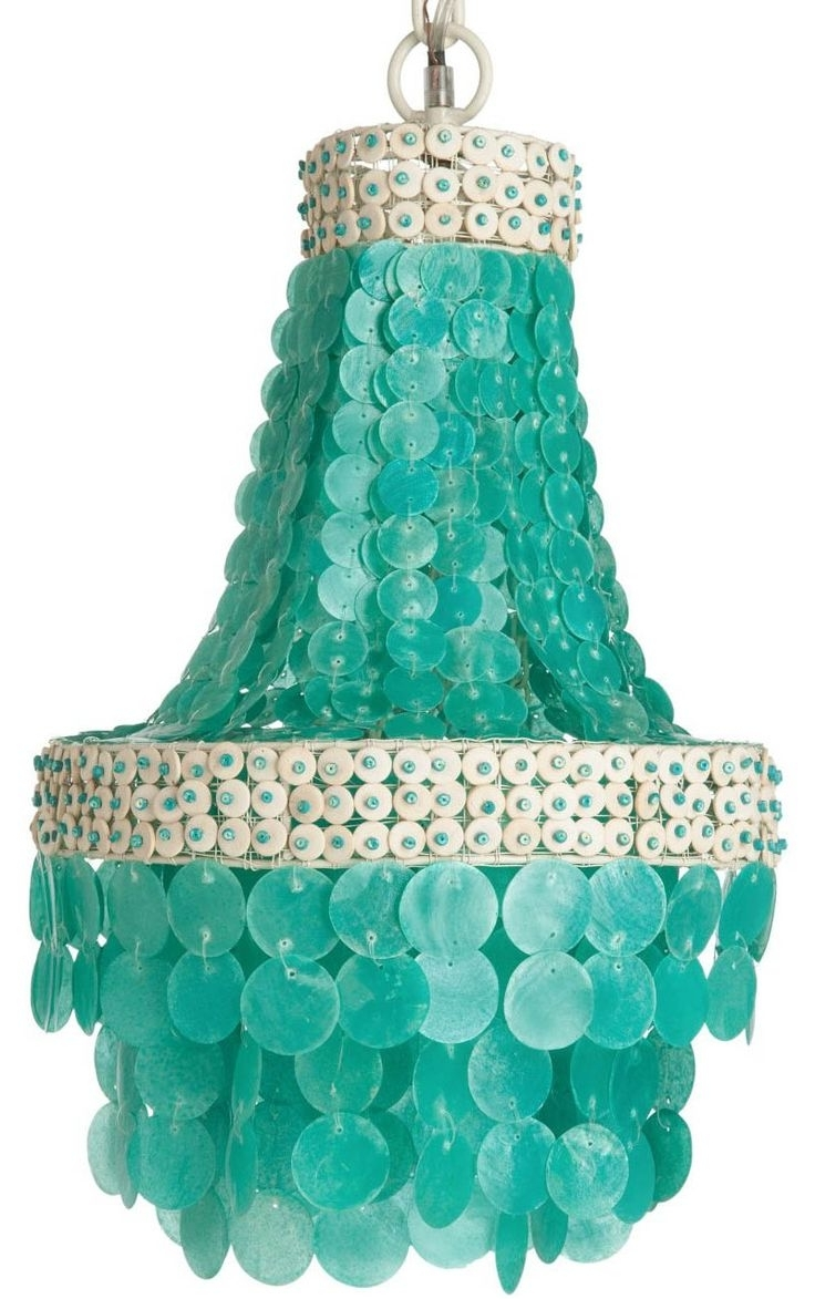 Chandeliers, Light With Small Turquoise Beaded Chandeliers (View 5 of 20)
