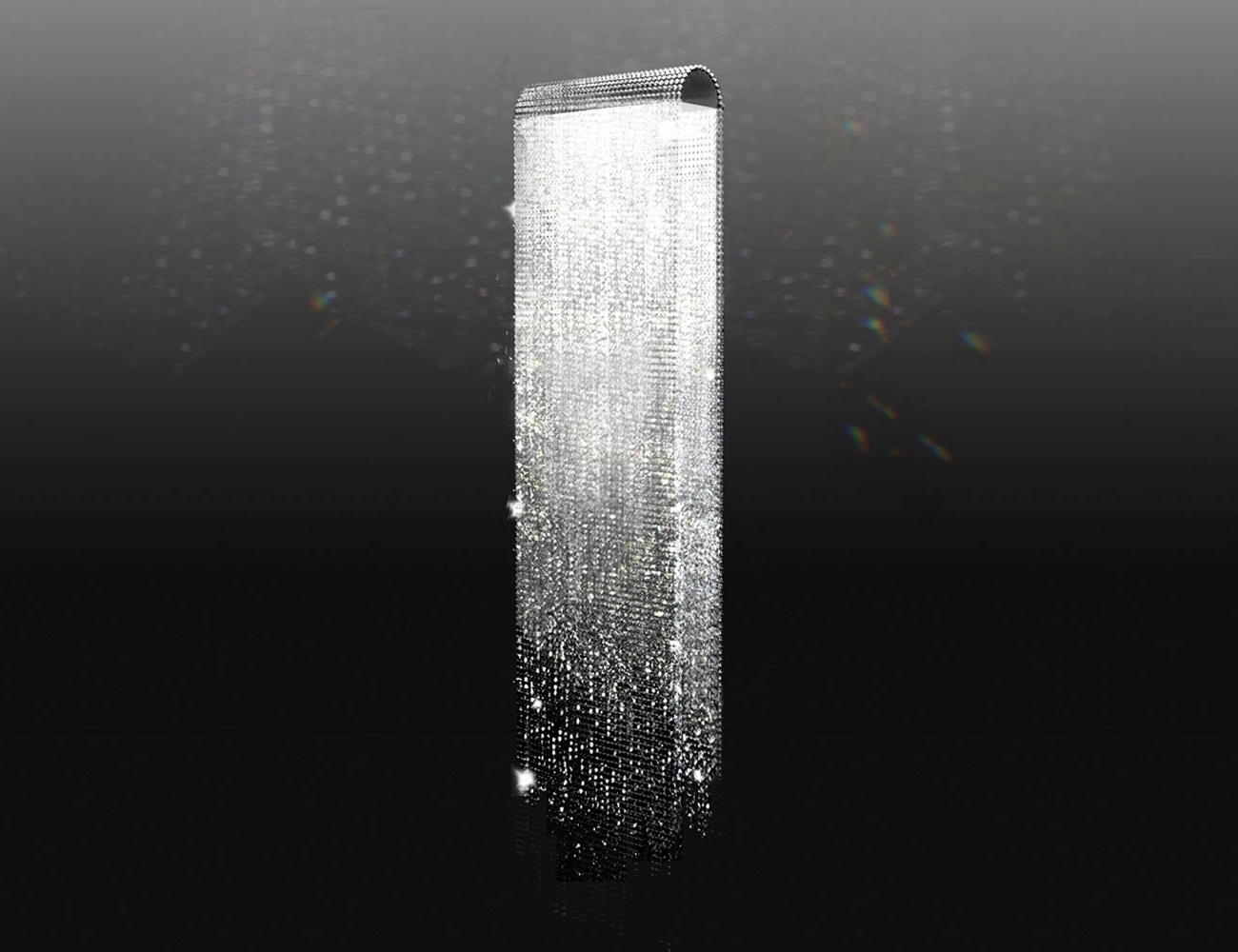 Chandeliers : Swarovski Crystal Waterfallandelier Light Inrome Round For Trendy Waterfall Crystal Chandelier (View 7 of 20)