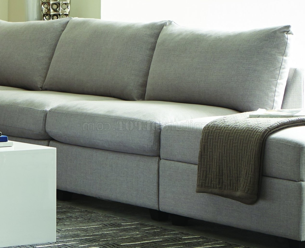 Charlotte Sectional Sofas For Recent Charlotte 551221 – Scott Living – Coaster – Grey Sectional (View 3 of 20)