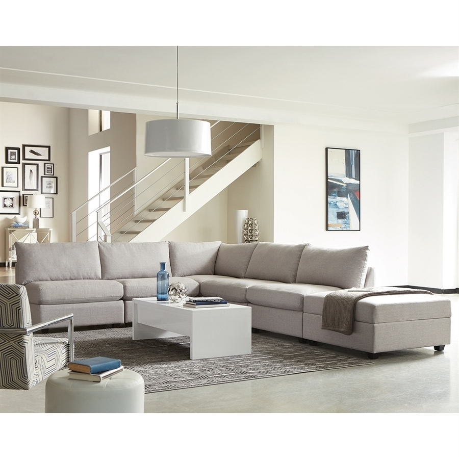Charlotte Sectional Sofas Intended For Most Up To Date Shop Scott Living Charlotte Casual Gray Sectional At Lowes (View 4 of 20)