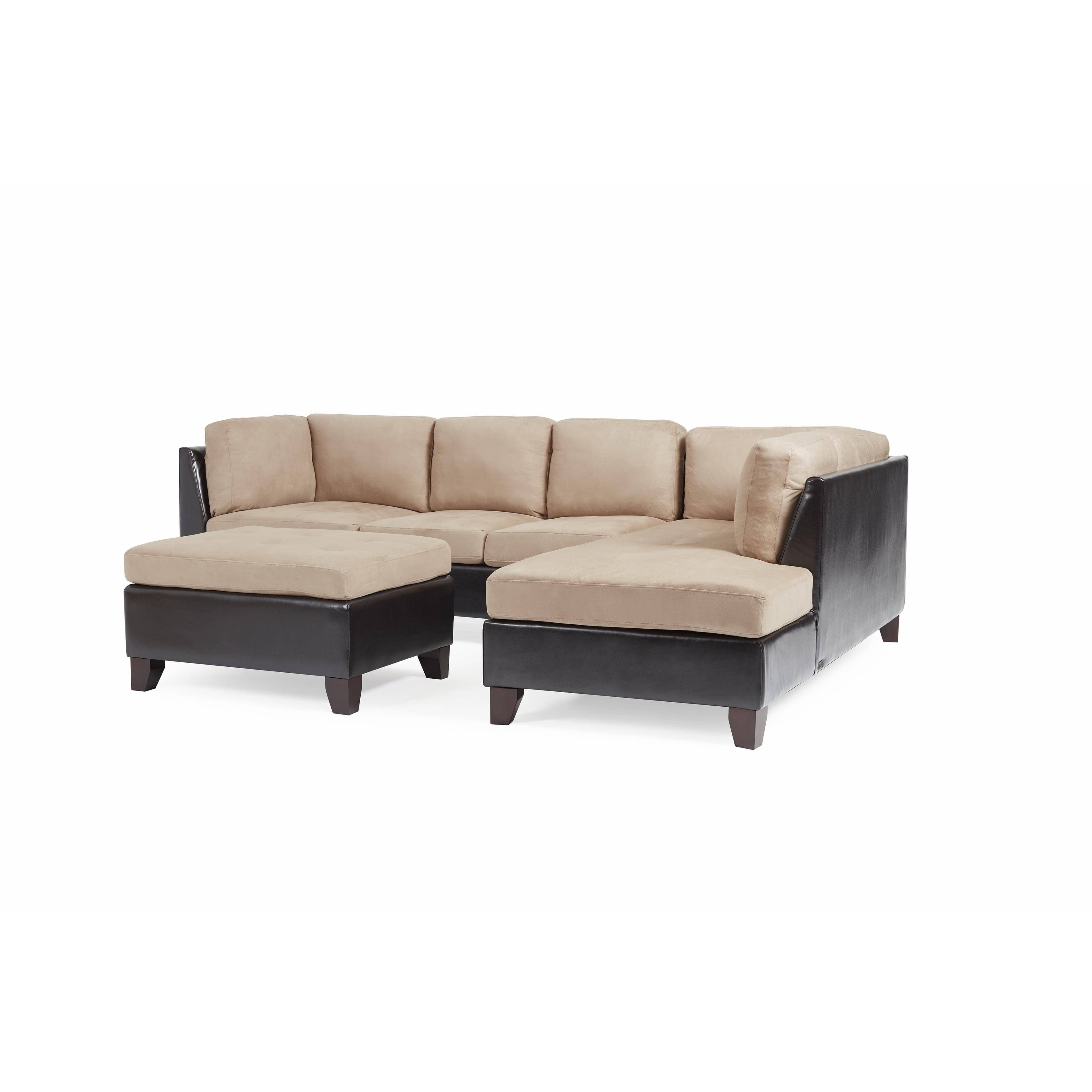 Charlotte Sectional Sofas With Regard To Favorite Abbyson Charlotte Beige Sectional Sofa And Ottoman – Free Shipping (View 7 of 20)