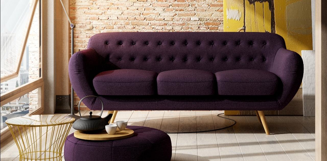 Cheap Retro Sofas Throughout Most Popular Anatol 3 Seater Retro Sofa – Fabric Sofas (View 15 of 20)