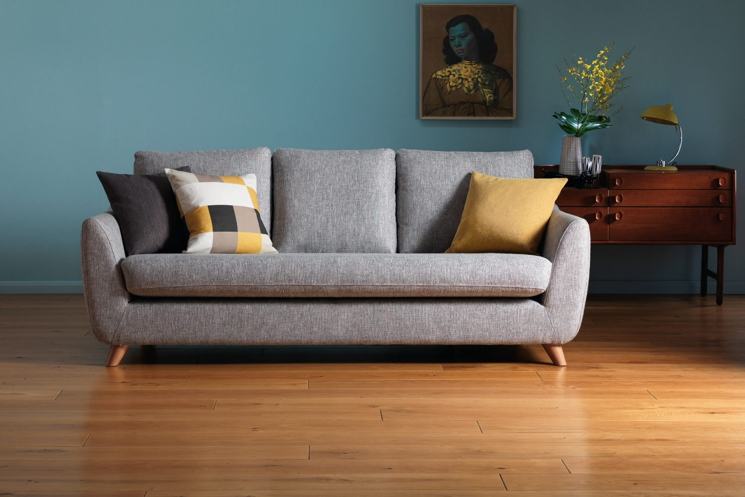 Cheap Retro Sofas Throughout Popular Buy G Plan Vintage The Sixty Seven Small Sofa, Marl Grey Online At (View 5 of 20)