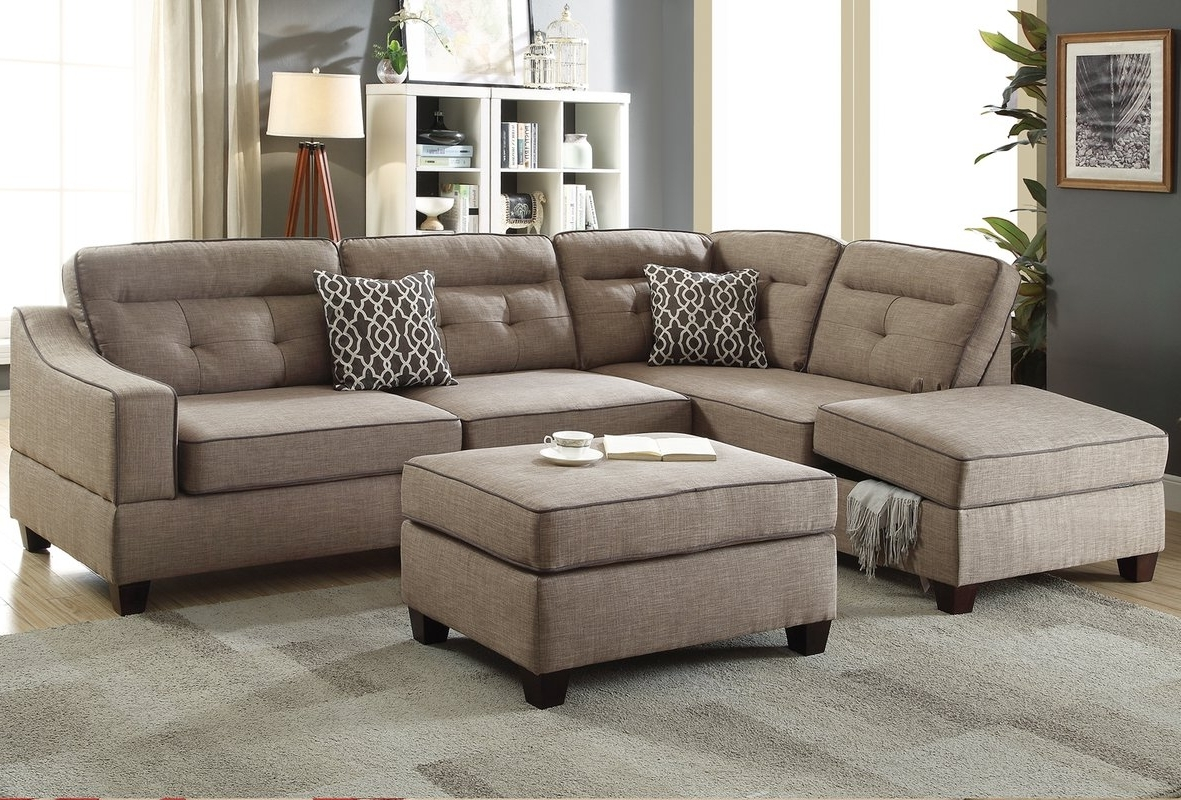Cheap Sectionals With Ottoman For Well Liked Alcott Hill Sarah Reversible Sectional With Ottoman & Reviews (View 6 of 20)