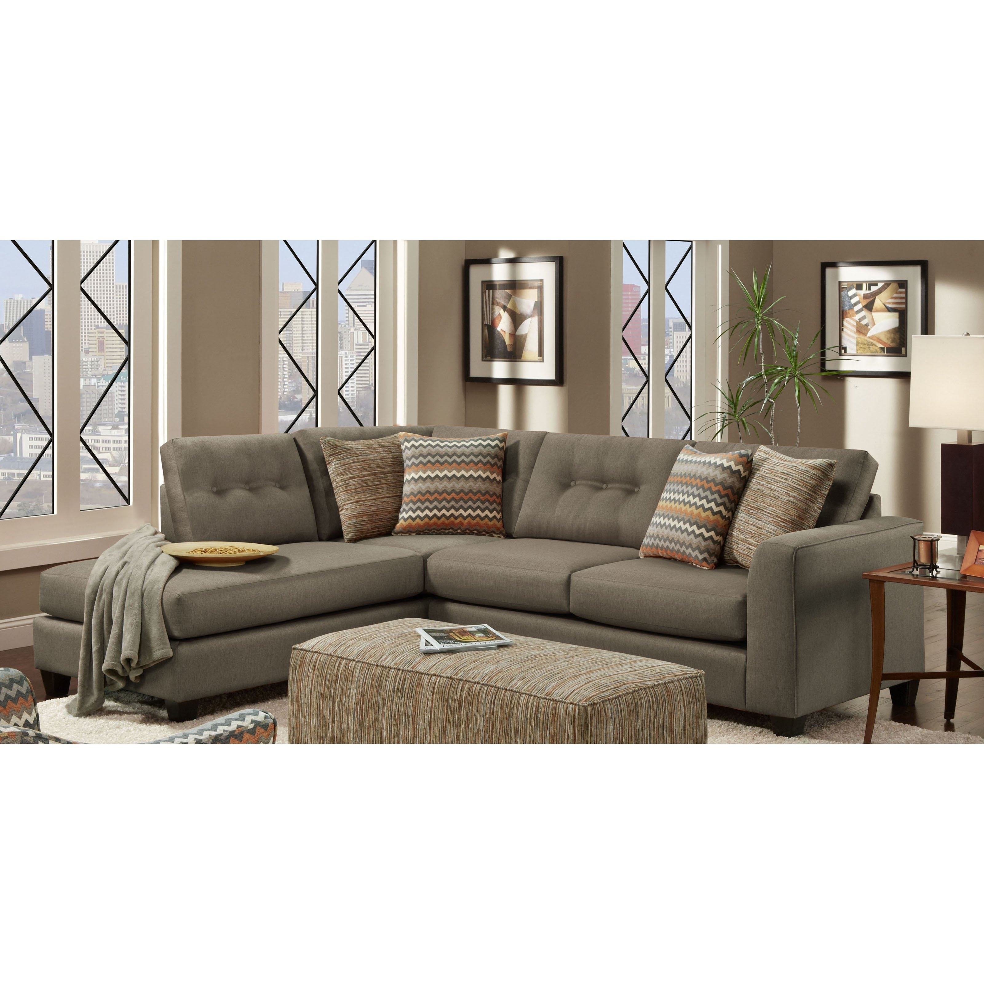 Chelsea Home Furniture Phoenix Sectional Sofa – Walmart With Well Known Phoenix Sectional Sofas (View 4 of 20)