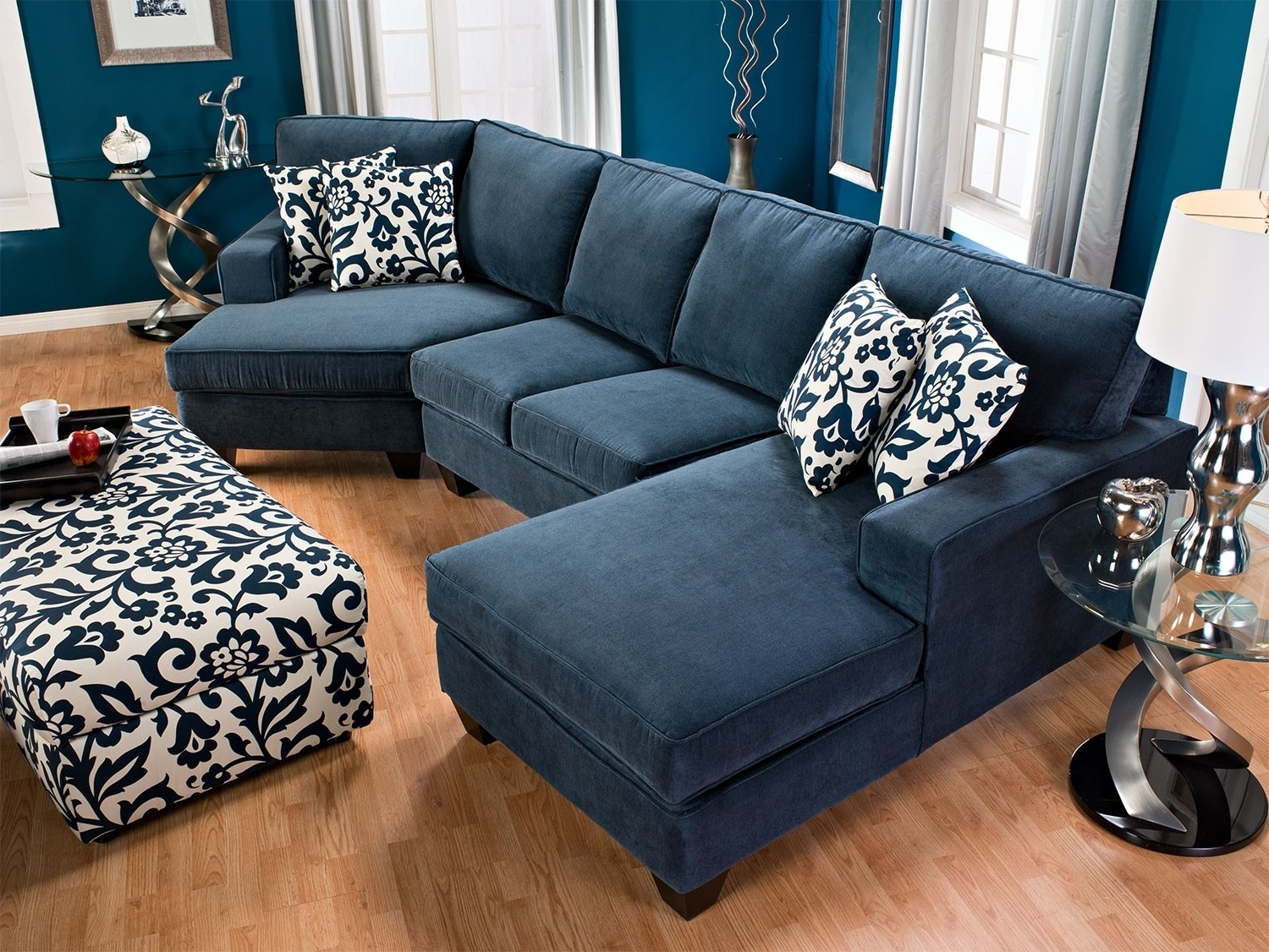 Chenille Sectional Sofa With Chaise (View 11 of 20)