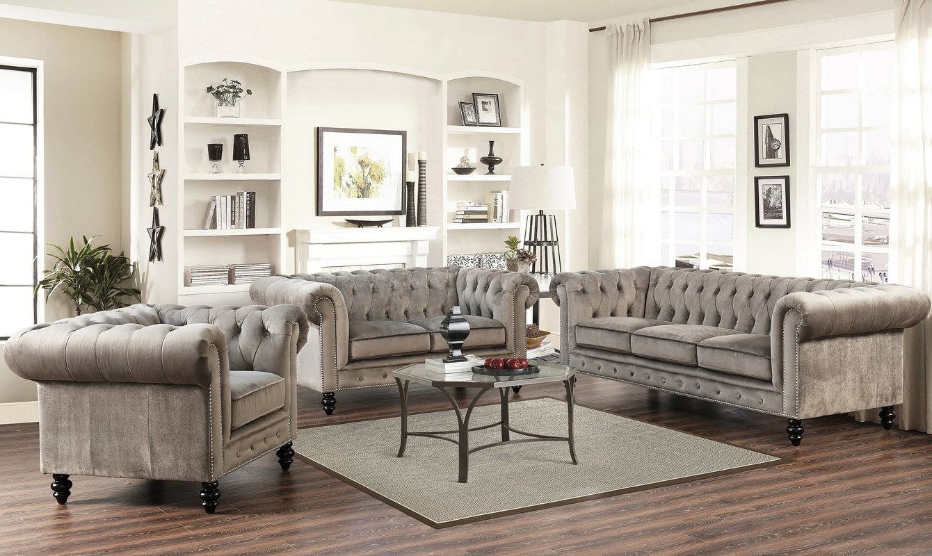 Chesterfield Sofas And Chairs Intended For 2019 World Menagerie Kashvi Chesterfield Sofa & Reviews (View 9 of 20)
