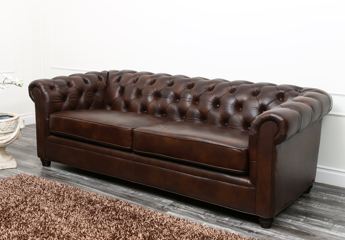 Chesterfield Sofas Inside Best And Newest Harlem Leather Chesterfield Sofa & Reviews (View 10 of 20)