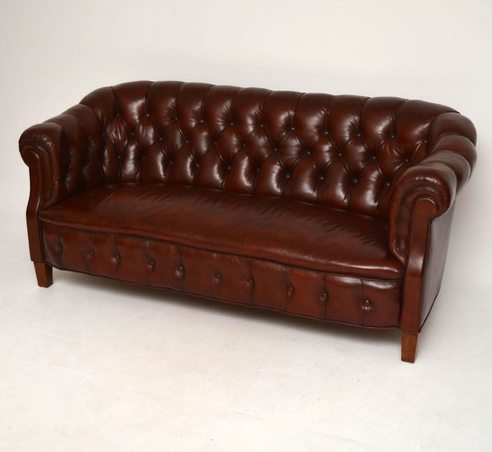 Chesterfield Sofas Inside Recent Antique Swedish Leather Chesterfield Sofa (1890 To 1910 Sweden (View 4 of 20)
