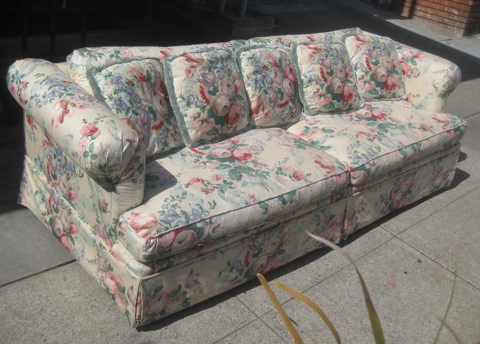 Chintz Covered Sofas Inside Preferred Furniture : Covers For Sofas And Couch Sure Fit Lexington Floral (View 5 of 20)