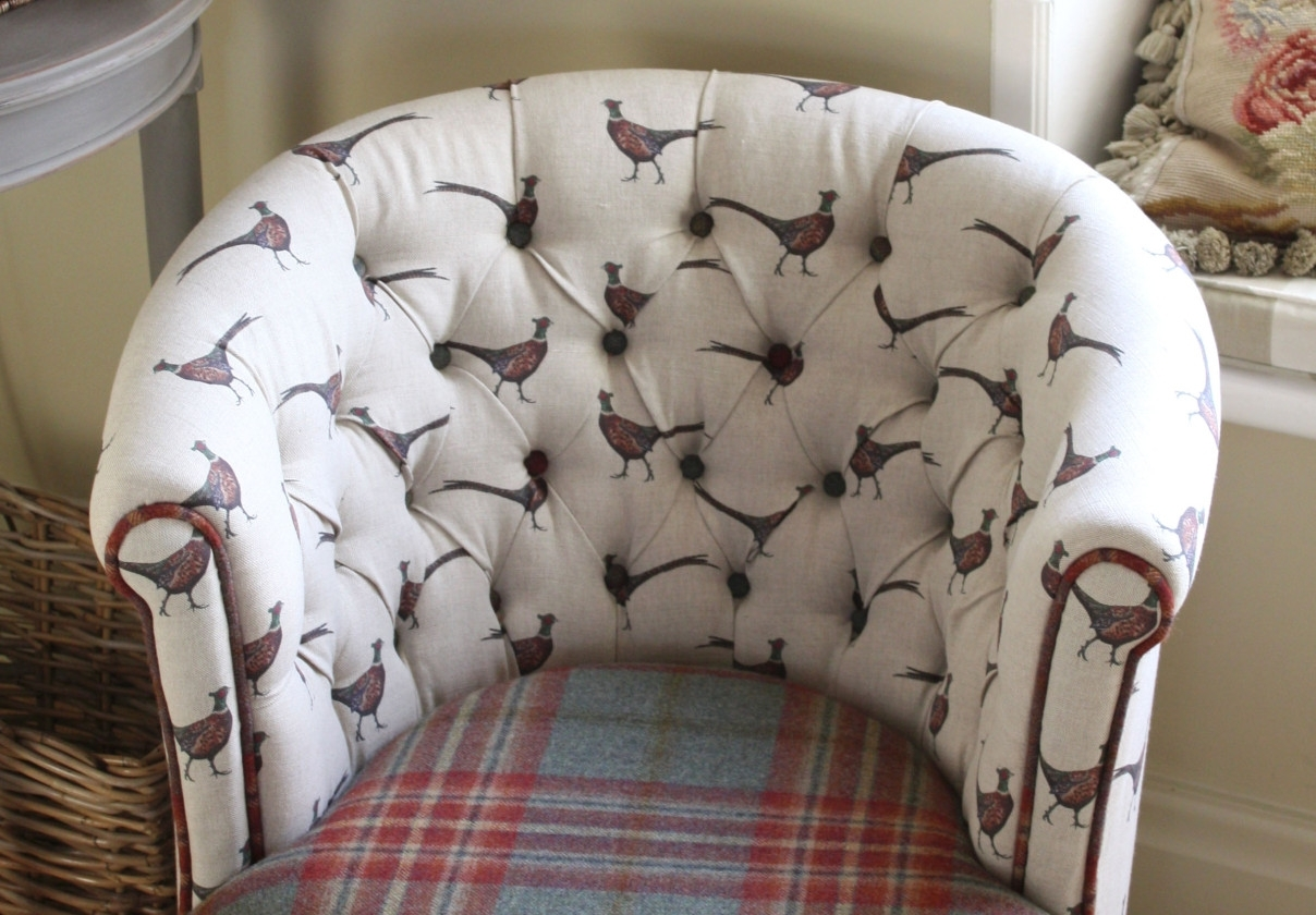 Chintz Covered Sofas Within Well Known Chairs : Saras Rose Printed Sofa Slipcover Free Shipping Today For (View 8 of 20)