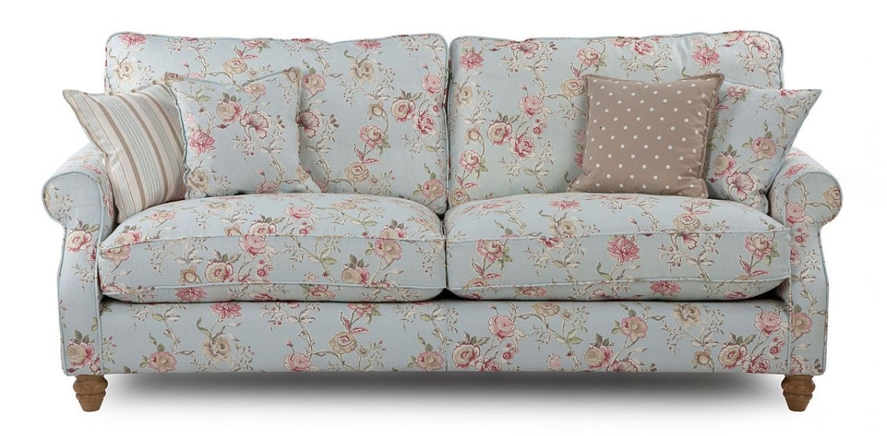 Chintz Floral Sofas For Most Up To Date Grand Floral Sofa  Country Style (View 4 of 20)