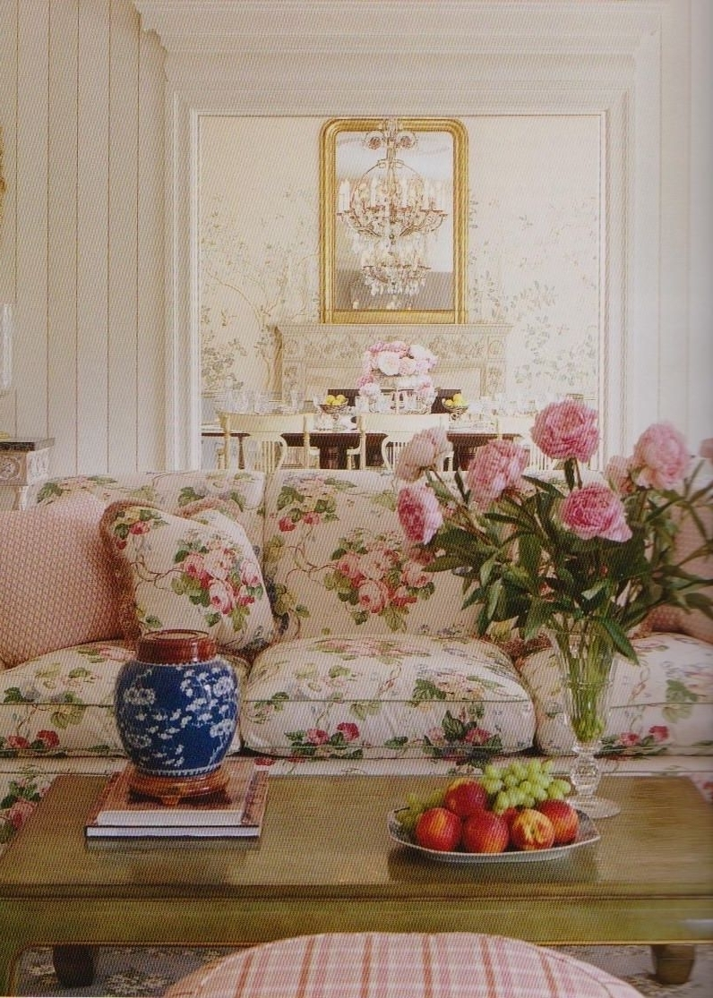 Chintz Floral Sofas Within Well Liked 3 The Floral Couch The Wooden Coffee Table And Checkered (View 7 of 20)