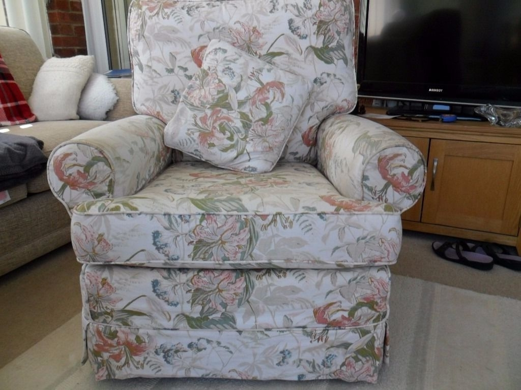 Chintz Sofas And Chairs For Fashionable Chairs : Upholstered Arm Chair Beautiful Chintz Sofas And Chairs (View 9 of 20)