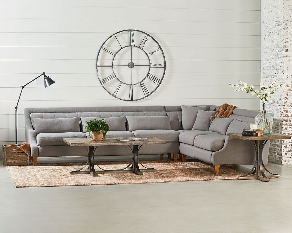 Chisel Sectional Sofa Living Room – Magnolia Home Intended For Recent Good Quality Sectional Sofas (View 19 of 20)
