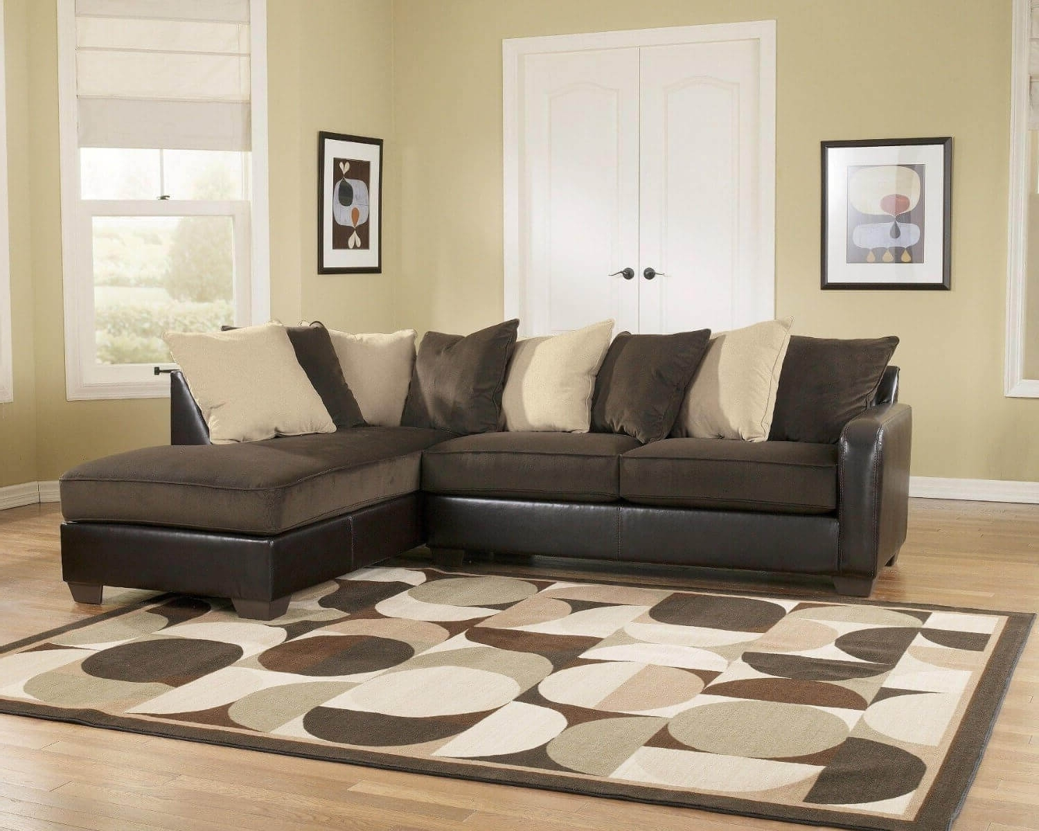 Chocolate Brown Sectional Sofa With Chaise – Fjellkjeden Inside Fashionable Chocolate Brown Sectional Sofas (View 3 of 20)