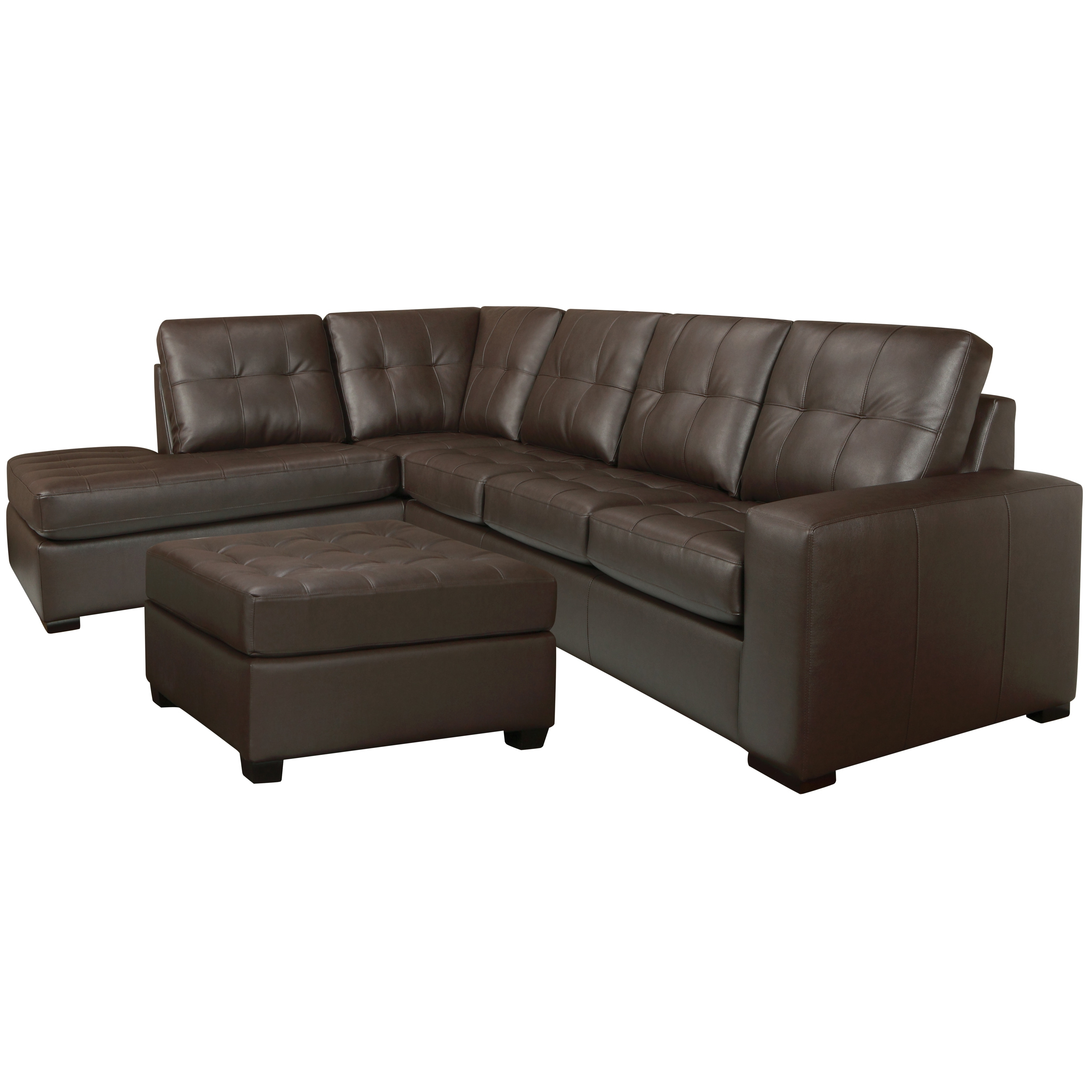 Chocolate Brown Sectional Sofas Inside Favorite Drake Chocolate Brown Italian Leather Sectional Sofa And Ottoman (View 4 of 20)