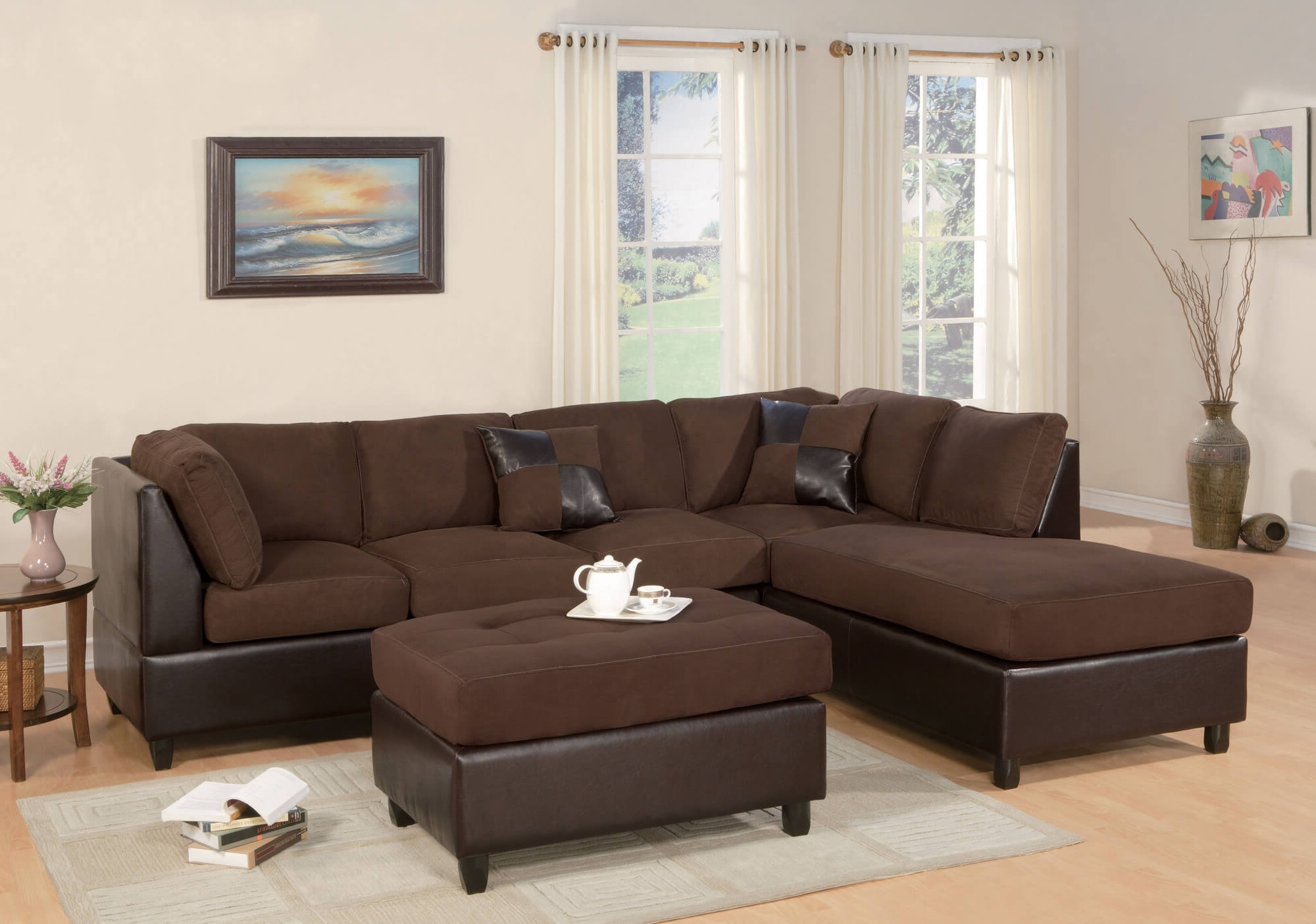 Chocolate Brown Sectional Sofas Pertaining To 2019 Epic Chocolate Brown Sectional Sofas 65 In Light Blue Sectional (View 5 of 20)