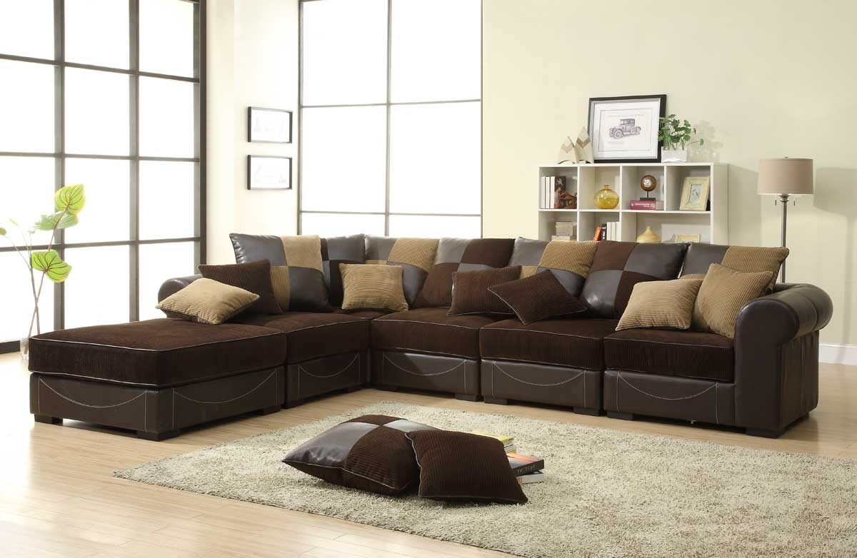 Chocolate Brown Sectional Sofas With Regard To Most Current Homelegance Lamont Modular Sectional Sofa Set B – Chocolate (View 8 of 20)