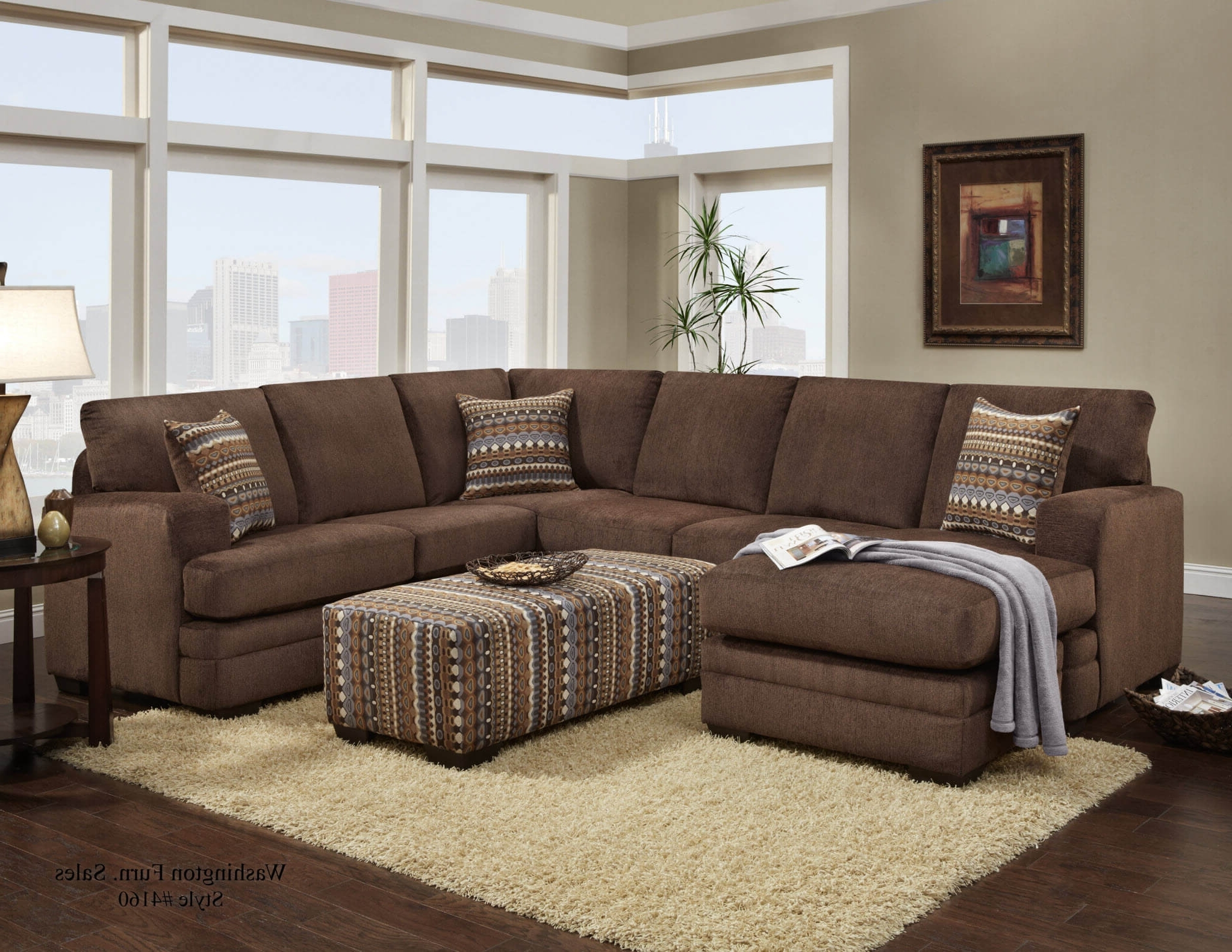 Chocolate Sectional Sofas For Famous Hillel Chocolate Sectional (View 3 of 20)