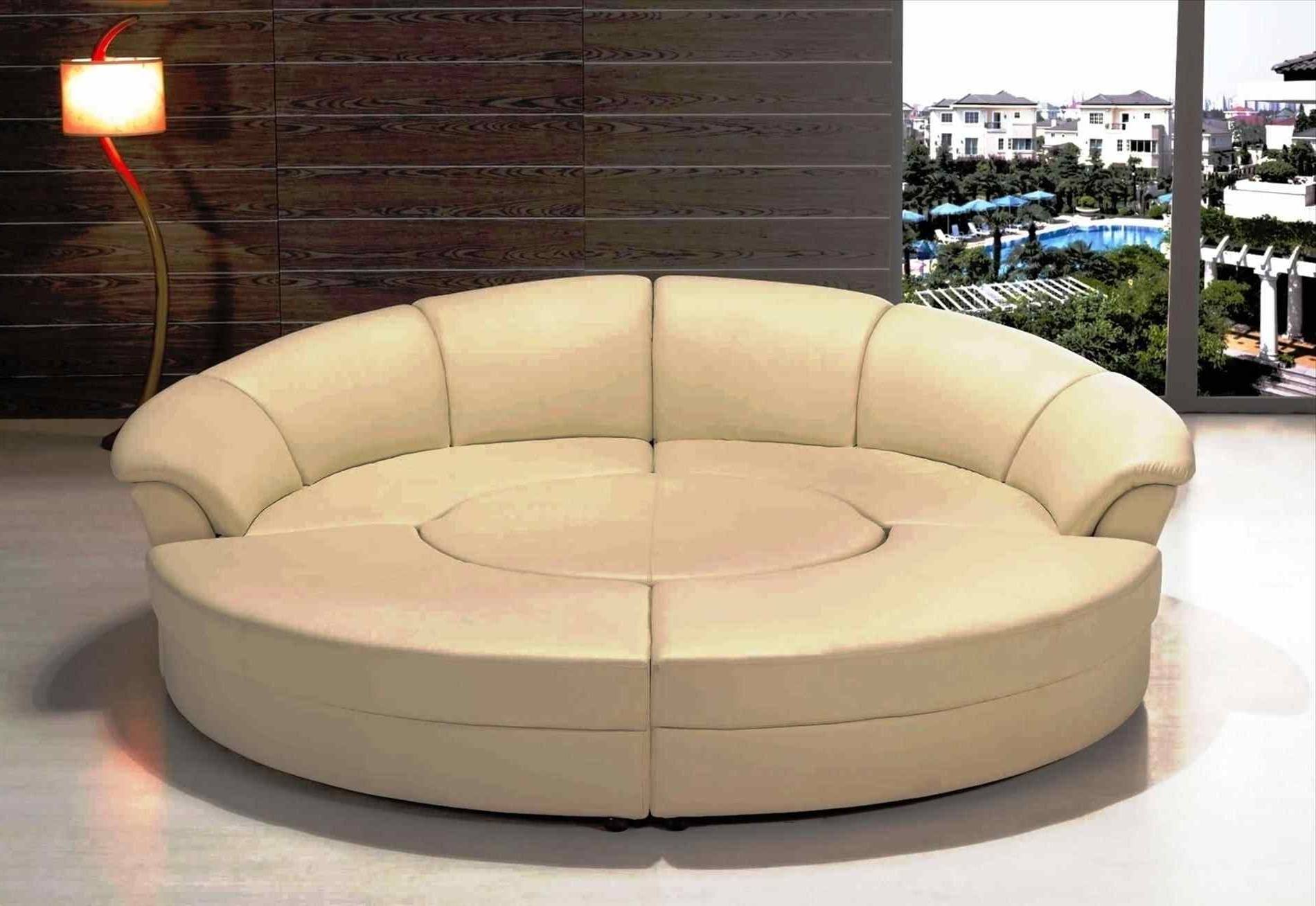 Circle Sofas Intended For Fashionable Couch : Furniture Circle Couch Manstad Sofa Bed For Cozy Living (View 7 of 20)