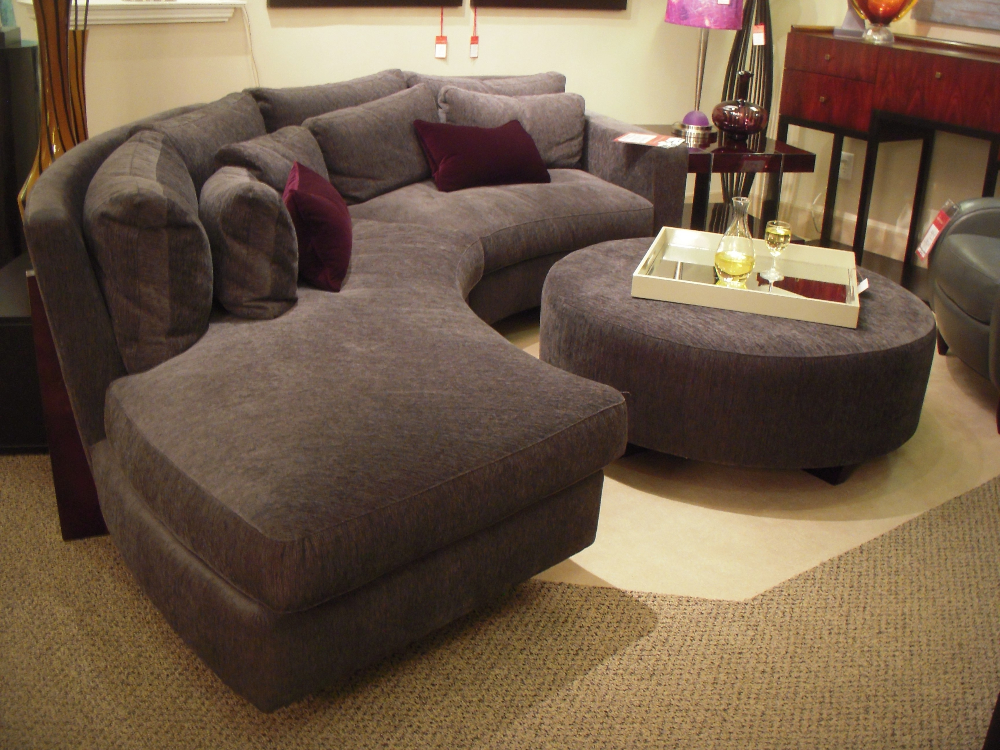 Circular Sectional Sofas Intended For Most Recently Released Sofa : Glamorous Round Sectional Sofa Bed Curved Leather Tufted (View 6 of 20)