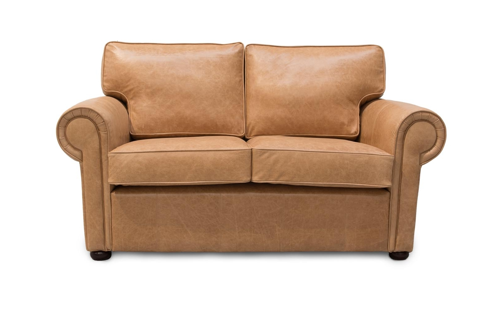 Clare Traditional Leather Sofa Bed (View 9 of 20)