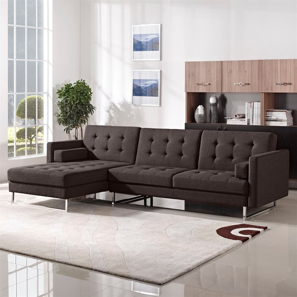 Classic Living Room Design With Opus Tufted Chaise Sleeper For Current Tufted Sectional Sofas With Chaise (View 6 of 20)