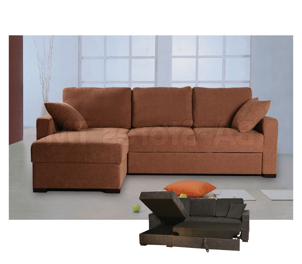 Cocoa Finish For Most Recently Released Sectional Sofas With Storage (View 7 of 20)