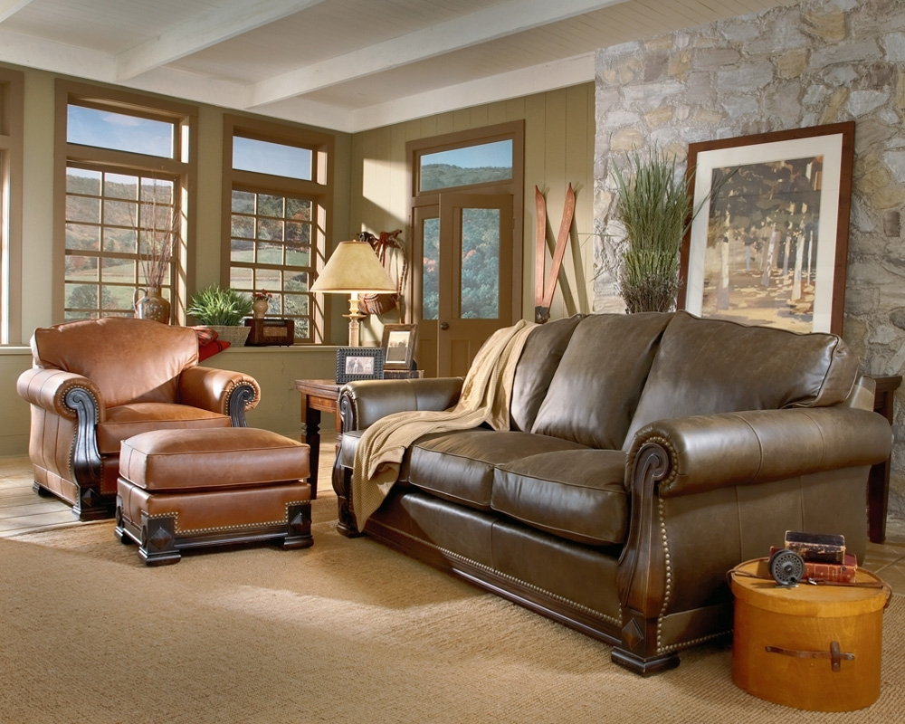 Colorful Sofas And Chairs Regarding Latest Living Room Colors With Brown Couch Mixing Leather Sofa With (View 6 of 20)