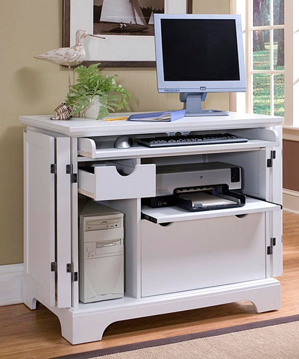 Compact Computer Desks In Latest Look At This #zulilyfind! Home Styles White Naples Compact (View 6 of 20)