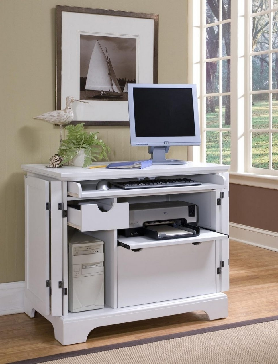 Compact Computer Desks Pertaining To 2018 Desk : Cheap Corner Desks For Small Spaces Compact Computer Desk (View 4 of 20)