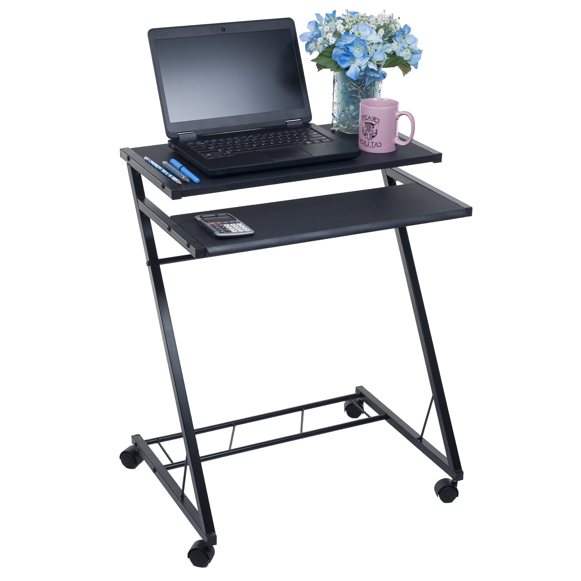 Compact Computer Desks Pertaining To Famous Mobile Desk Gallery 13 Of 20