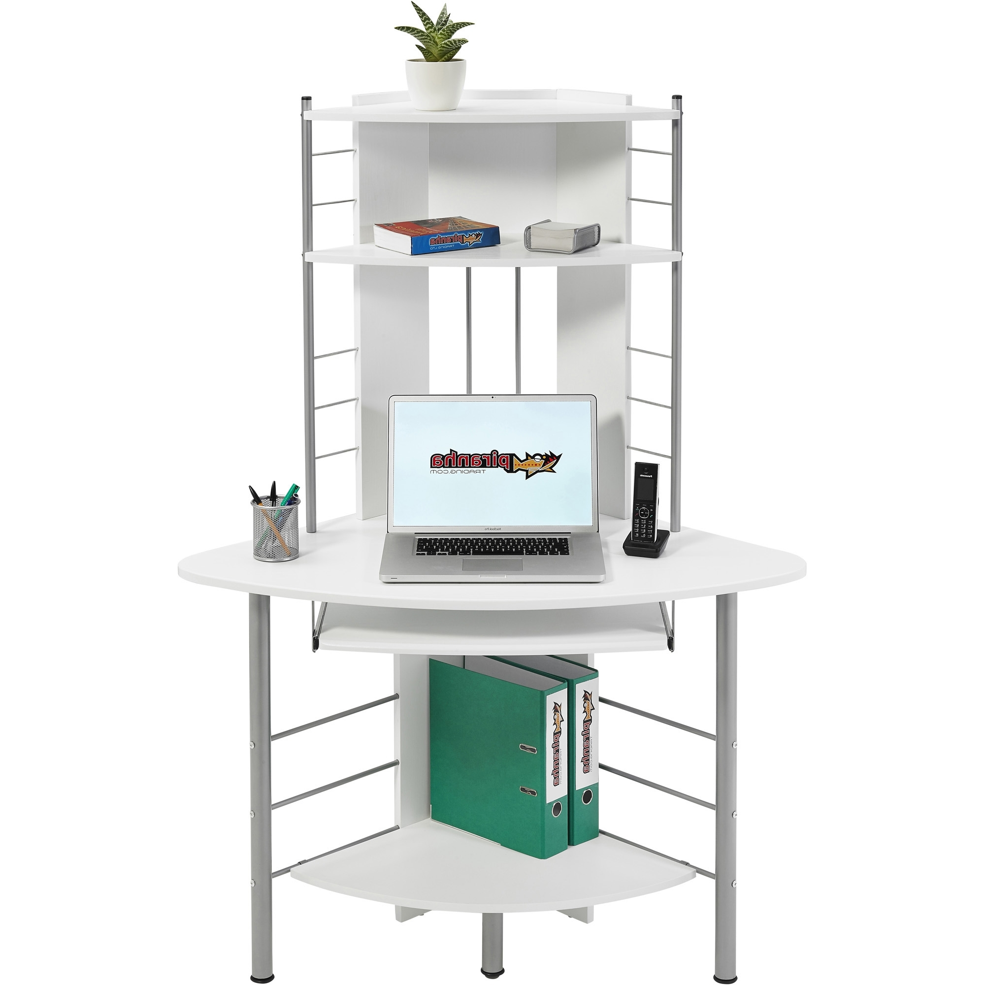 Compact Computer Desks Throughout Well Known Compact Computer Desk With Printer Shelf Newest – Surripui (View 11 of 20)